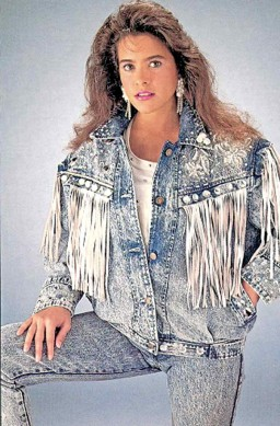 Acid wash and stone wash in denim in the 1980s