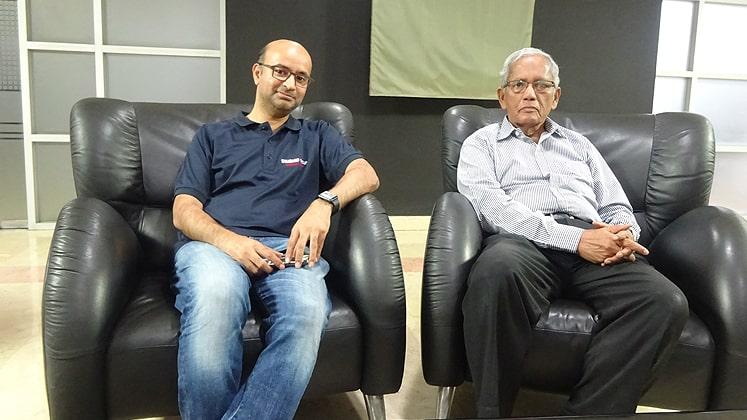 Hasnat Mosharraf-Director of Standard Group (L) with Engineer Atiqur Rahman-Chairman of Standard Group