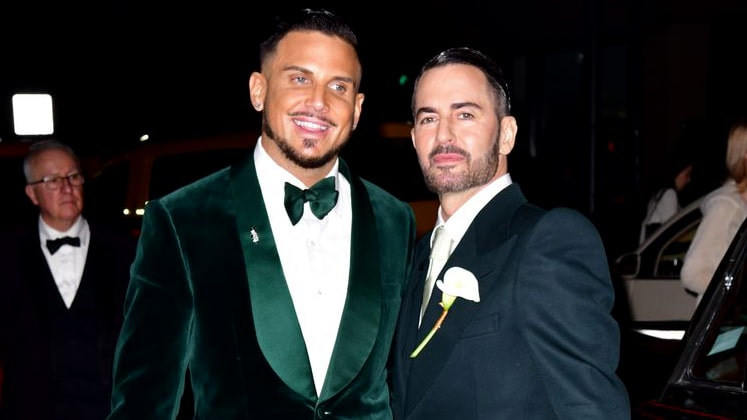 Marc Jacobs with Charly Defrancesco