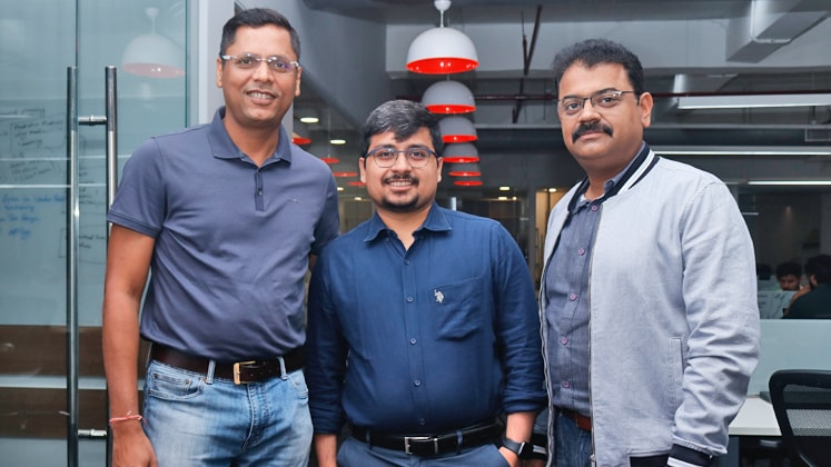 Prashant Lohia (L), CEO, Ginesys, along with his team